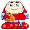 Игрушка Снеговик Аленка красная