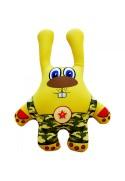 Игрушка Заяц в камуфляже желтый