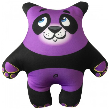 Игрушка Панда фиолетовая