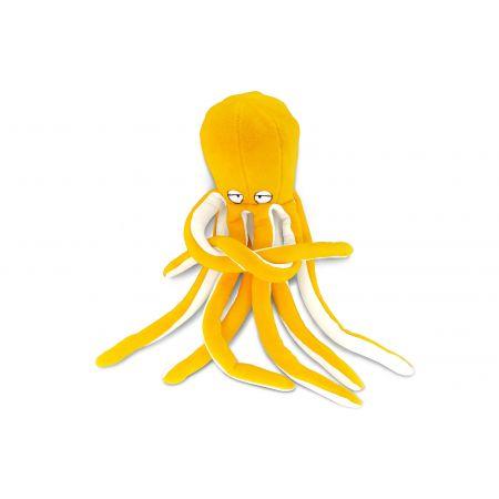 Подушка Пушистик Осьминог желтый