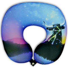 Подушка под шею Игрушка Звездный бык 02