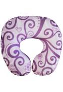 Подушка под шею фиолетовая